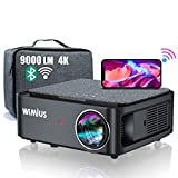 Proyector WiFi Bluetooth Full HD 1080P 4K Soporte, 9000 Lúmenes WiMiUS Proyector 5G WiFi Bluetooth 1080P Nativo Ajuste Digital 4P/4D Función Zoom Proyector WiFi Cine en Casa Para PPT,PS5,TV Stick,etc.