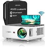 Proyector WiFi Bluetooth 1080P, YABER 8500 Lúmenes Proyector WiFi Full HD 1080P Nativo Soporta 4K, Ajuste Digital de 4 Puntos, Proyector Portátil Zoom -50%, Proyector LED para Cine en Casa y PPT