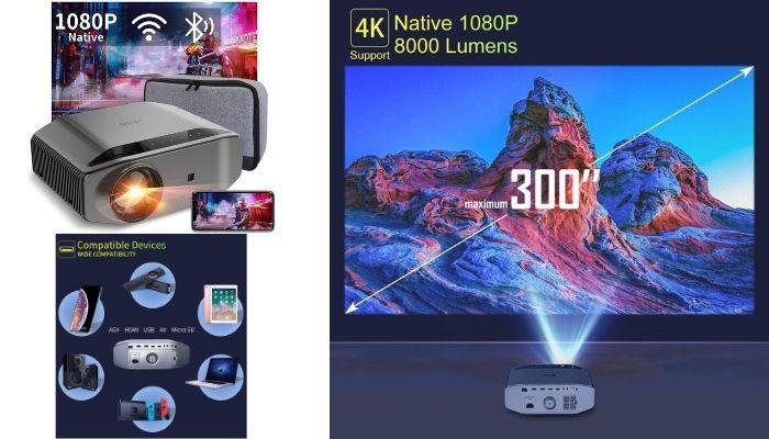 proyector 4k bluetooth wifi