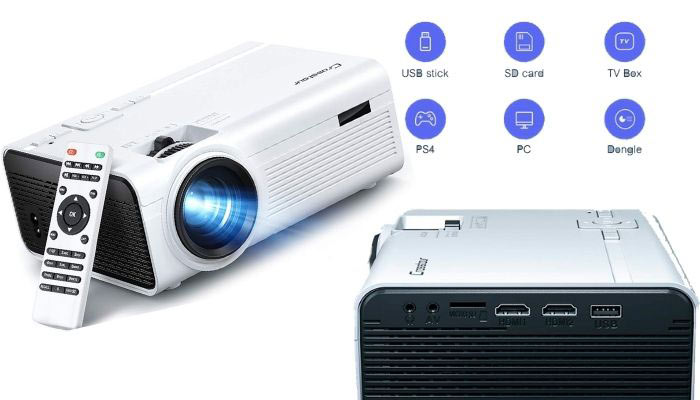 proyector con lampara led
