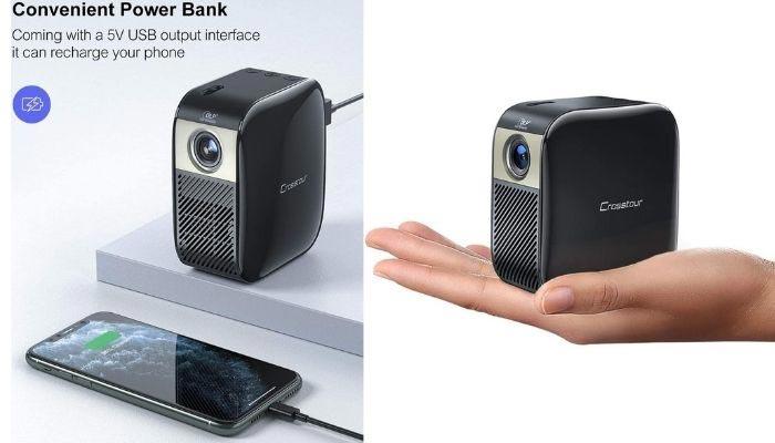 mini proyector con bateria